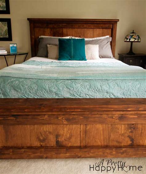 Pottery Barn Farmhouse Bed Plans by Diy Pottery Barn Inspired Farmhouse Bed A Pretty Happy Home