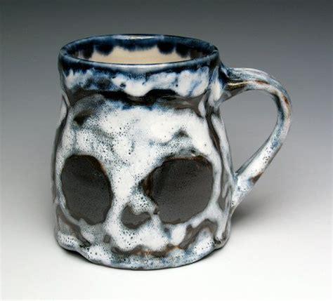 1 pint ceramic mugs skull coffee mug ceramic two skulls pint mug