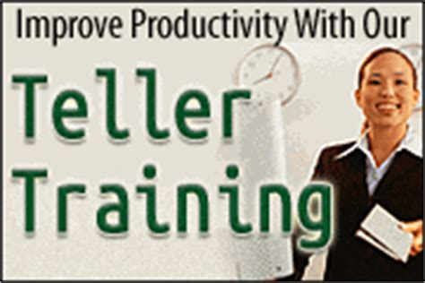 bank teller certificate bank teller productivity banktrainingcenter