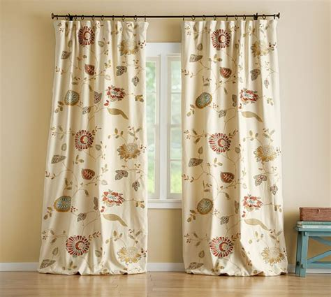 Where Can I Buy Window Valances Margaritte Embroidered Drape Pottery Barn