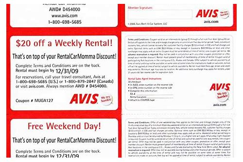 car rental coupons dec 2018
