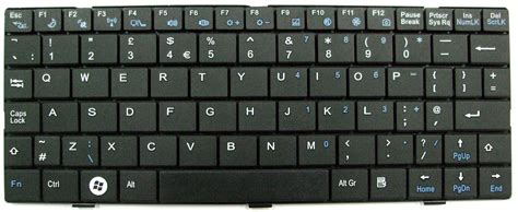 Keyboard Laptop advent 4213 genuine laptop keyboard uk black mp 08a33gb