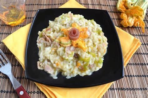 ricetta risotto ai fiori di zucca 187 risotto ai fiori di zucca e prosciutto crudo ricetta