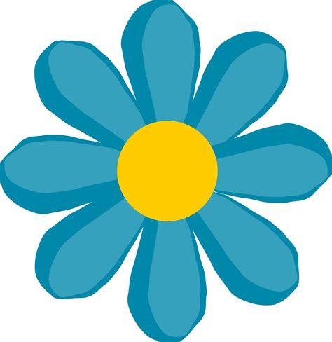 printable blue flowers clipart blue flower