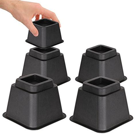 heavy duty bed risers duracasa bed risers or furniture riser 5 inches heavy duty set of 4 5 inch ebay