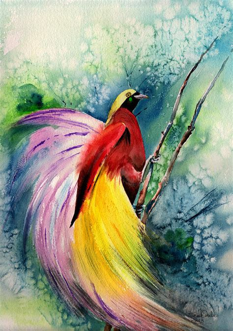 new painting free bird of paradise new guinea painting by salvador