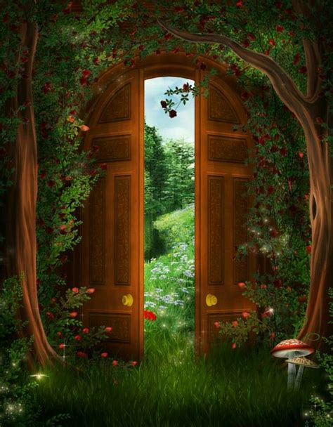mystical door fantasy pinterest doors - The Forest Open Boat Door