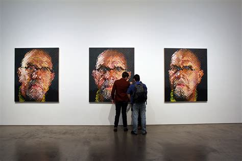 pace gallery portraits chuck close and his friends at pace gallery