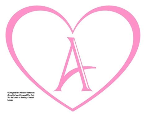 free printable letters pink large printable heart shaped alphabet letters a z heart