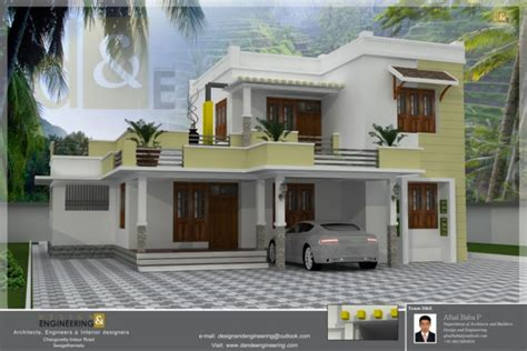 free home designer 4 bhk stylish low cost home design at randathani indian