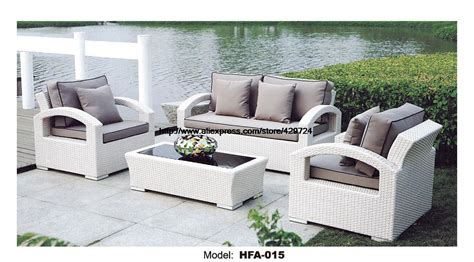 White Rattan Sofa Purple Cushions Garden Outdoor Patio White Outdoor Wicker Furniture