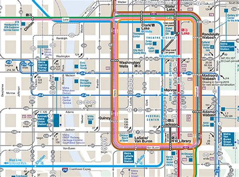 chicago blue line map visit directions