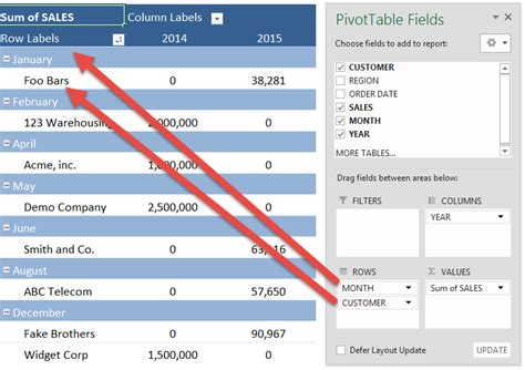 format report pivot table excel 2007 pivot table report layouts free microsoft excel tutorials