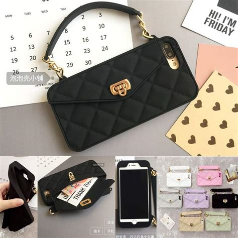 luxury fashion soft silicone card bag metal clasp