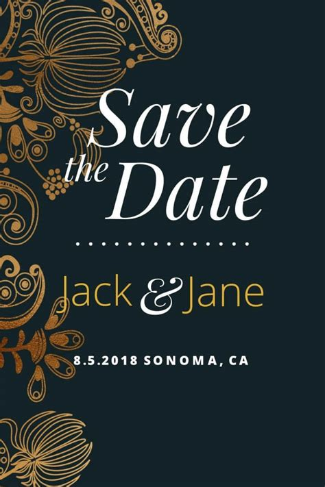 Save The Date Postcard Templates postcard goldleaf save the date postcard galleries in