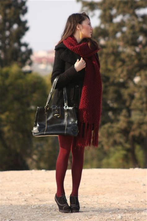 24 with marsala scarves for styleoholic