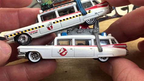 Promo Hotwheels Retro Ghostbuster Ecto 1 Car wheels ecto 1a ghostbusters retro entertainment