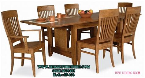 Meja Makan Jati Jepara 6 Kursi harga meja makan jati 6 kursi model meja makan jati 6 kursi terbaru ikhsan furniture jepara