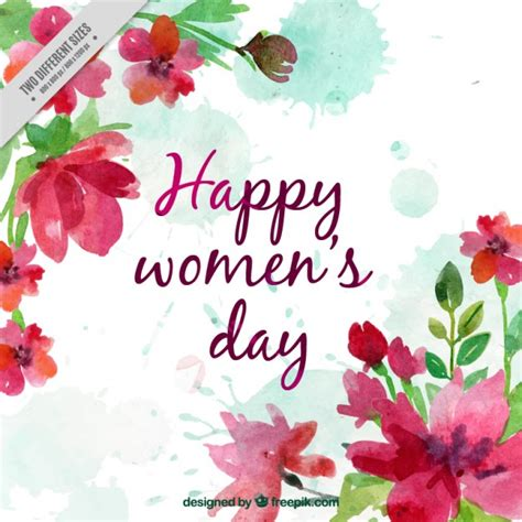 imagenes en ingles de happy women s day happy women day watercolor background vector free download