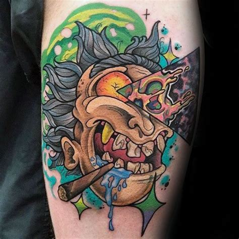 fantastic simple rick and morty tattoo golfian com
