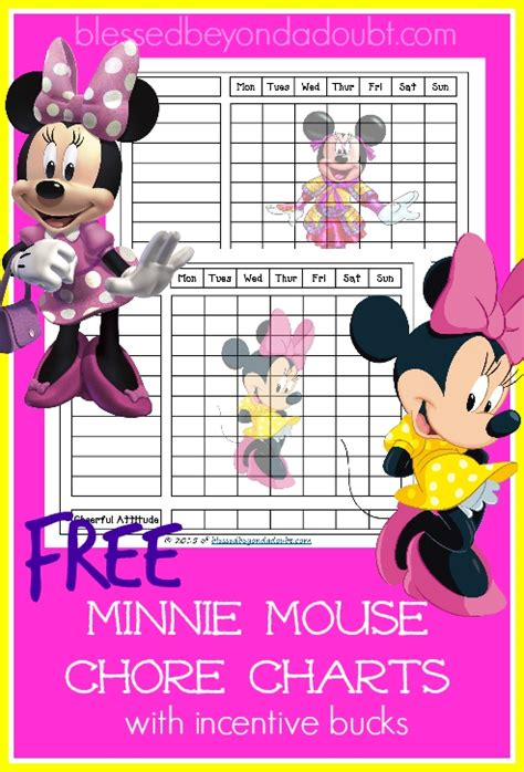 minnie mouse printable reward charts free minnie mouse chore charts minnie mouse mice and free