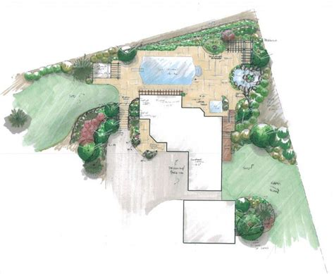 backyard landscape design plans pool layout plan best layout room