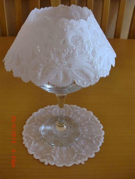 Parchment Paper Crafts - larita 2 acabada con soporte de copa de cristal