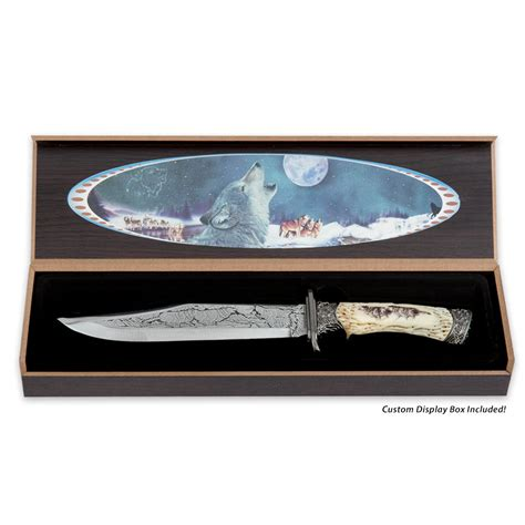knife display box running wolf fixed blade knife with display box budk