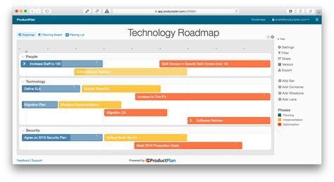 road map template three exle technology roadmaps