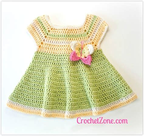 Dress Baby 6 12 Bulan Butterfly free crochet pattern for butterfly kisses baby dress
