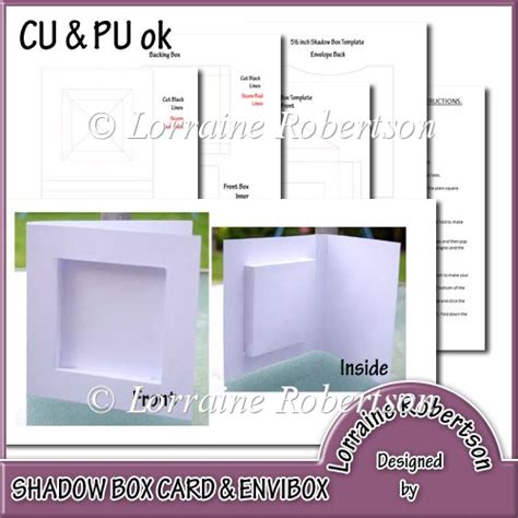 Shadow Box Envibox Template 163 2 00 Instant Card Making Downloads Shadow Box Template
