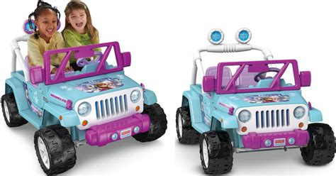 power wheels jeep frozen fisher price power wheels frozen jeep only 199 shipped