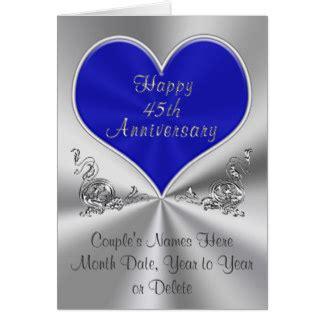 45th wedding anniversary cards invitations zazzle co uk