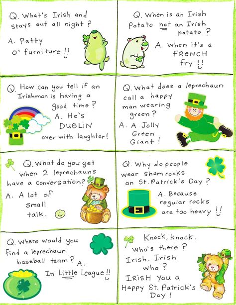 s day one liners patrick s day jokes 2017 limericks riddles