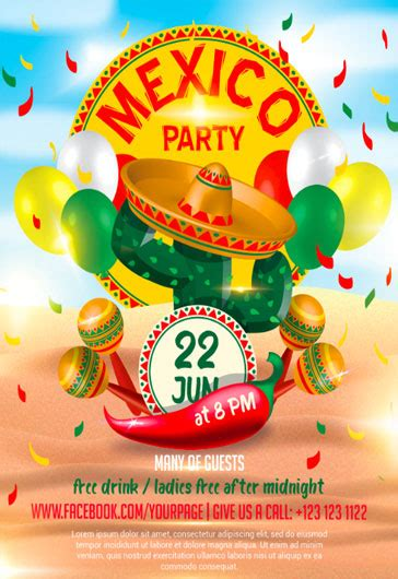 Free Mexican Fiesta Flyer Template
