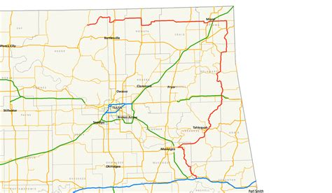 roadmap of oklahoma oklahoma state highway 10