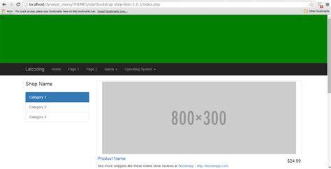 membuat menu dropdown bootstrap membuat menu dinamis menggunakan bootstrap dan php