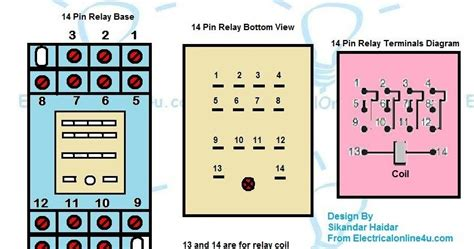 14 pin relay wiring diagram 27 wiring diagram images