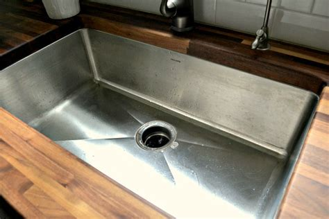 how to install undermount sink in butcher block countertop butcher block counters undermount stainless sink