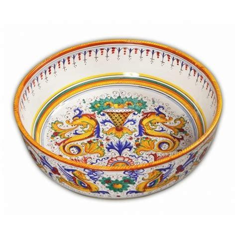 Large Decorative Ceramic Bowls by Raffaellesco Large Decorative Bowl Italian Pottery Outlet