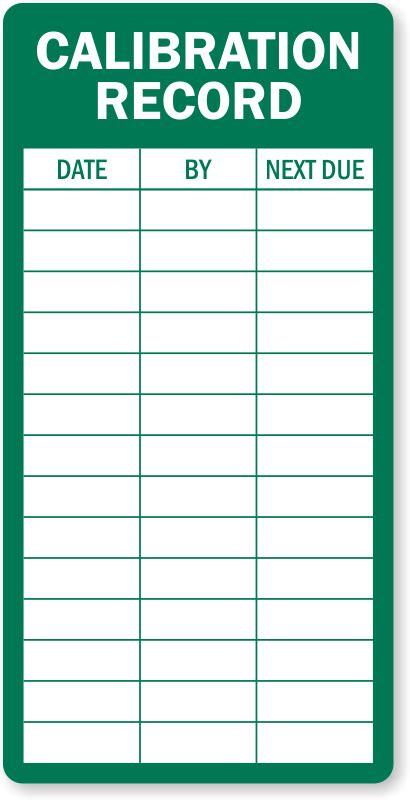 Calibration Record Inspection Label Huge Customer Base Sku Lb 2100 Calibration Label Template