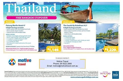 package deals nz to thailand
