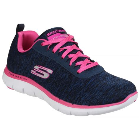 Skechers Flex Appeal skechers flex appeal 2 0 s navy pink sports free