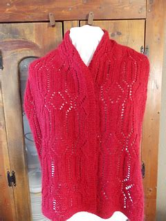 ravelry winter trellis scarf pattern by shellie