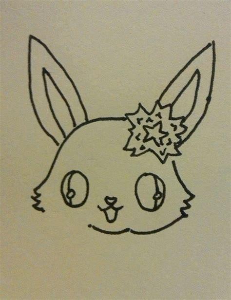 kawaii bunny doodle   draw  animal drawing art
