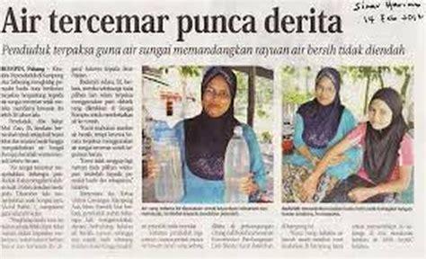 kesan pencemaran air pencemaran air