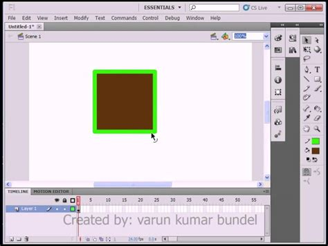 flash tutorial in hindi lesson 02 difference between object and shape adobe