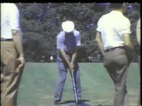 ben hogan slow motion golf swing ben hogan golf swing secret plane tips analysis lessons