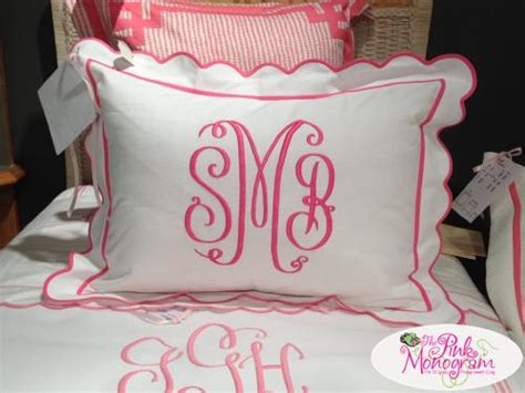 monogrammed bed pillows monogrammed shams set of two from jane wilner designs s