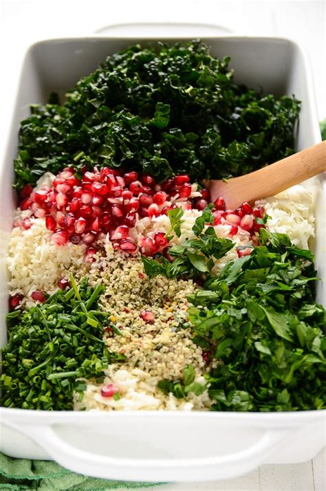 Detox Salad With Kale Broccoli And Cauliflower by The Festive Detox Salad With Cauliflower Kale